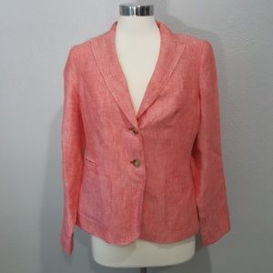 TALBOTS Cross Dyed Linen Blazer